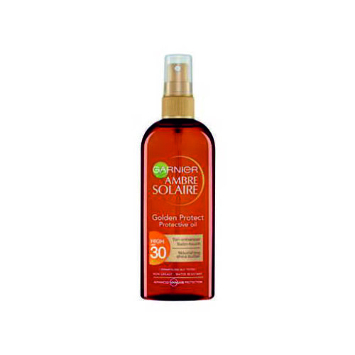 Garnier Ambre Solaire Golden Protect Protective Oil with Tan Enhancer & Satin-Touch SPF30